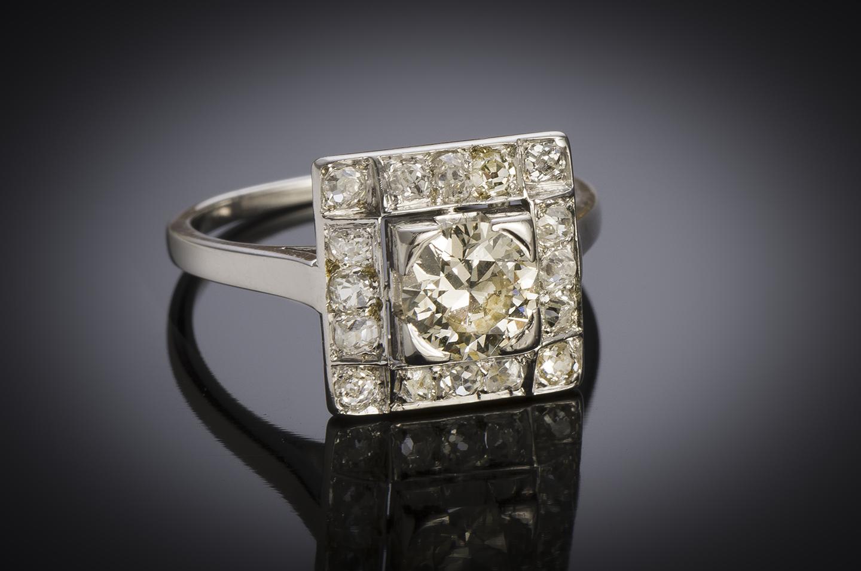 Bague diamants (1,30 carat) vers 1950-2