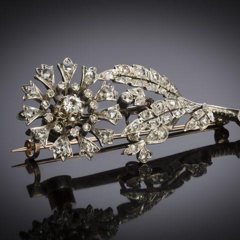 Broche « Trembleuse » diamants Napoléon III