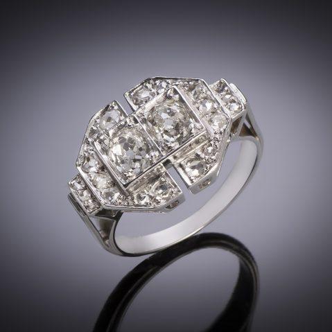 Bague Art Déco diamants (environ 1,50 carat)