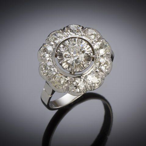 Bague Art Déco diamants (environ 2,40 carats)