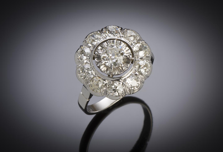 Bague Art Déco diamants (environ 2,40 carats)-1