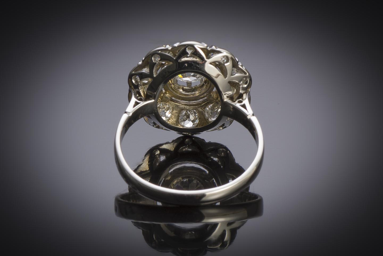 Bague Art Déco diamants (environ 2,40 carats)-2