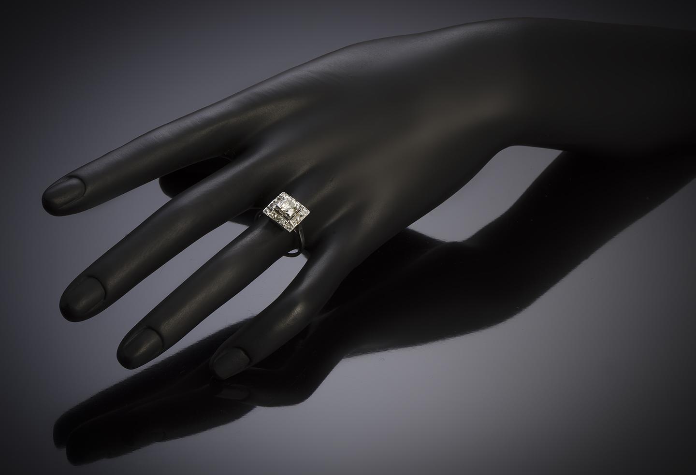 Bague diamants (1,30 carat) vers 1950-3