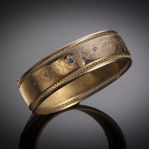 Bracelet saphir diamants (deuxième moitié du XIXe siècle)